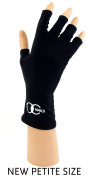 OC Nails UV Shield Glove (BLACK NIGHT ~ PETITE) Anti UV Glove for Gel Manicures with UV/LED Lamps