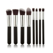 Aoile 8pcs Premium Synthetic Kabuki Makeup Brushes Set Cosmetics Foundation Blending Blush Eyeliner Face Powder Brush Makeup Brushes Kit