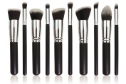 Aoile Premium Synthetic Kabuki Makeup Brush Set Cosmetics Foundation Blending Blush Eyeliner Face Powder Brush Makeup Brush Kit - Make You Look Flawless