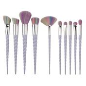 ExGizmo 10pcs Superior Soft Cosmetic Makeup Brushes Set Foundation Eyeshadow Blusher