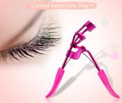Professional Quality Eyelash Curler - 1 Free Eyelash Tweezer Included. Best New Professional Tool Properly Separates Lashes,Curls Without Pinching or Pulling BU047R