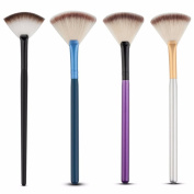 Nuobo 4Pcs Fan Blush Face Foundation Cosmetic Brush Makeup Brush Face Powder Foundation Cosmetic Brushes