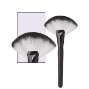 Makeup Brush,BeautyVan Large Fan Goat Hair Blush Face Powder Cosmetic Brush