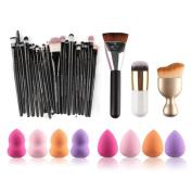 Brushes, RIUDA 6PCS Cosmetic Makeup Brush Sponge Foundation Makeup Brush Powder Puff Brush