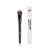 HFUN Foundation Brush Tapered Liquid Powder Cream Makeup Brush with Synthetic Bristles and Wooden Handle