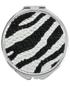 Betsey Johnson Zebra Crystal Bling Mirror Compact