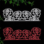 New Roses metal die cutting dies scrapbooking embossing folder suit for sizzix fustella big shot cutting machine