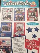Stars an Stripes Decorative Scrapbook Page Kit