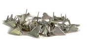 Pewter Country Heart Brads - Silver - Bulk 50ct