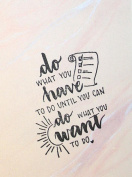 UMR-Design ST-092 do what you want Airbrushstencil Step by Step Size S 5cm x 7cm