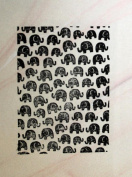 UMR-Design ST-054 Elephants Airbrushstencil Step by Step Size S 5cm x 7cm