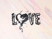 UMR-Design ST-024 Love Flame Airbrushstencil Step by Step Size S 4.5cm x 6cm