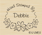 Custom Flower Oval Hand Stamped by Rubber Stamp by DRS Designs Rubber Stamps