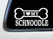 ThatLilCabin - I LOVE MY SCHNOODLE 20cm AS642 car sticker decal