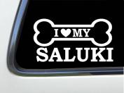 ThatLilCabin - I LOVE MY SALUKI 20cm AS641 car sticker decal