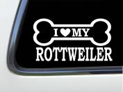 ThatLilCabin - I LOVE MY ROTTWEILER 20cm AS639 car sticker decal