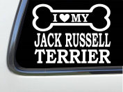 ThatLilCabin - I LOVE MY JACK RUSSELL TERRIER 20cm AS629 car sticker decal