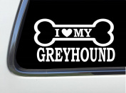 ThatLilCabin - I LOVE MY GREYHOUND 20cm AS627 car sticker decal