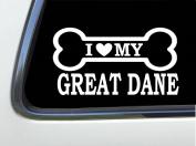 ThatLilCabin - I LOVE MY GREAT DANE 20cm AS625 car sticker decal