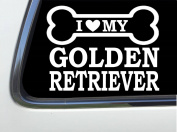 ThatLilCabin - I LOVE MY GOLDEN RETRIEVER 20cm AS623 car sticker decal