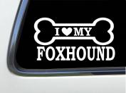 ThatLilCabin - I LOVE MY FOXHOUND 20cm AS618 car sticker decal