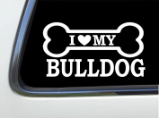 ThatLilCabin - I LOVE MY BULLDOG 20cm AS605 car sticker decal