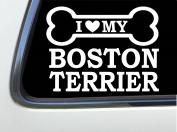 ThatLilCabin - I LOVE MY BOSTON TERRIER 20cm AS601 car sticker decal