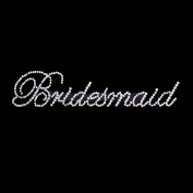 Bridesmaid Wedding Party Rhinestones Transfers Sticker Bridesmaid Mother Bride Applique