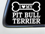 ThatLilCabin - I LOVE MY PIT BULL TERRIER 20cm AS593 car sticker decal