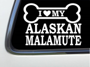 "ThatLilCabin - I LOVE MY MALAMUTE8"" AS589 car sticker decal"