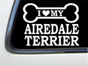 ThatLilCabin - I LOVE MY AIREDALE TERRIER 20cm AS590 car sticker decal