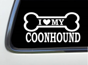 ThatLilCabin - I LOVE MY COONHOUND 20cm AS586 car sticker decal