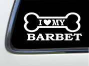 ThatLilCabin - I LOVE MY BARBET 20cm AS581 car sticker decal