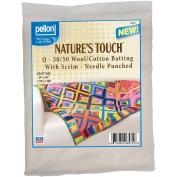 Wool/Cotton Blend Needlepunched Batting W/Scrim-Craft Size 90cm x 110cm FOB