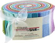 Contempo Studio Colour Weave Pinwheel 40 6.4cm Strips Jelly Roll Benartex