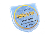 Quilter's Cut Rotary Cutter Blades Fits Olfa and Fiskars, 60 mm, 10 Pack