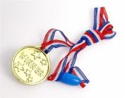 MunchieMoosKids Plastic Gold Coloured Medals 12/Pk