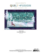 Winter Stroll Deer Snowflake Fusible Uncle Gravy's Quilt Fusion Quilt Pattern