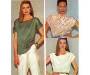 McCall's # 7009 Womens Draped Blouse Sewing Pattern Size