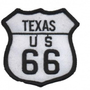 Texas TX Route 66 Patch