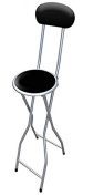 ANZ Folding Breakfast Bar Stool Party Home Office Kitchen Padded High Chair Black