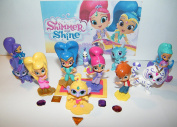 """Nickelodeon Shimmer and Shine Deluxe Figure Toy Set of 17 with """"Genie Gems"""" and Figures Featuring Leah, Princess Samira, Zac, the 2 Genies, Zeta and Many More!"""