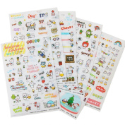 Schoolsupplies Lovely 6 Sheet Transparent Calendar Diary Book Sticker Scrapbook Decoration