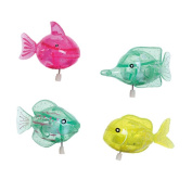 LuluToys 4 Pieces Swimming Fishes Bath Wind-up Toys For Kids