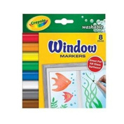 Crayola 8-colour painted window art water-based marker for children's play