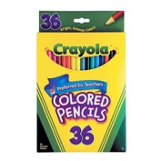 General Crayola 36 colour pencils art children's play children's colouring