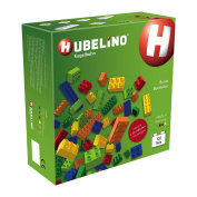 HUBELINO Marble Run - 102 Colourful Building Blocks - Made in Germany - 100% compatible with Duplo