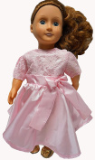 Tea Party Pink Dress For 46cm Doll Like American Girl And Our Generation