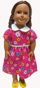 Rose Flower Dress Fits 46cm Girl Dolls Like American Girl Our Generation