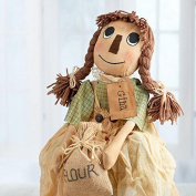 Factory Direct Craft Ecru Muslin Primitive Gina Rag Doll for Displaying, Gifting and Decor